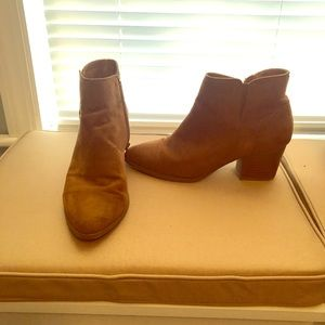 Forever 21 tan/brown ankle booties, side zipper